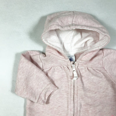 Petit Bateau light pink long-sleeved hoodie 3M/60