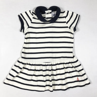 Petit Bateau blue and white marinier short-sleeved dress 6M/67