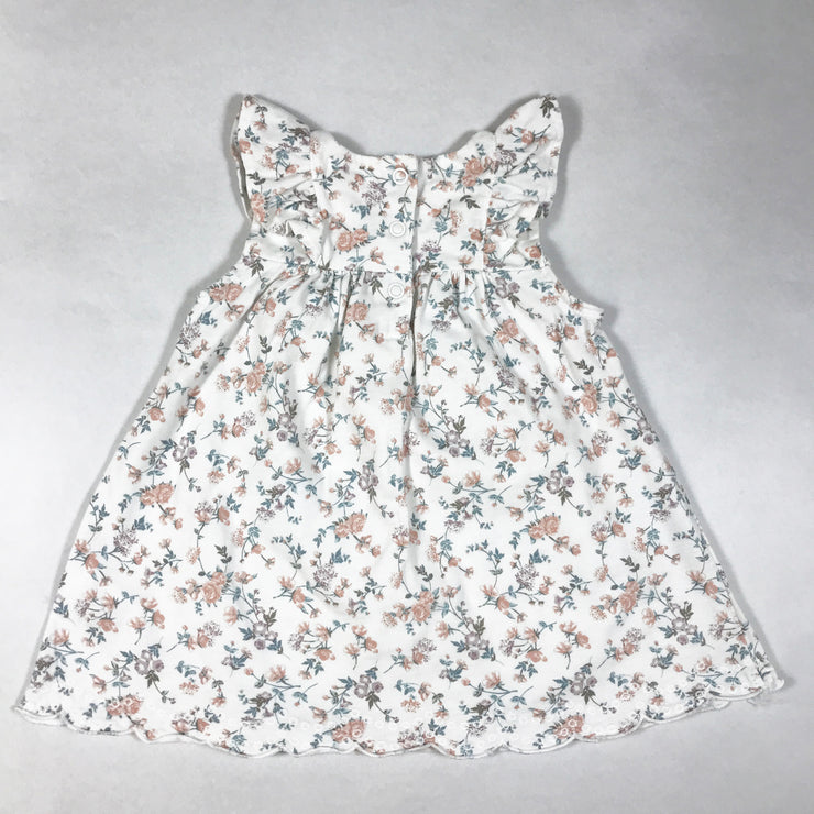 Newbie white floral sleeveless dress with frill detailing 68