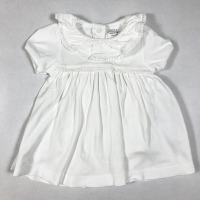 Livly white short-sleeved dress with frill detail collar NB