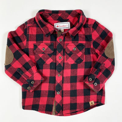 Canadiana red/black plaid lumberjack shirt 2T