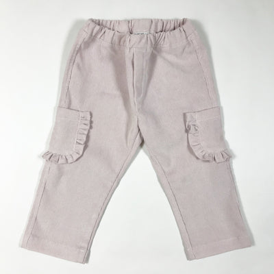 Arletta pale pink corduroy pants with ruffles 18M
