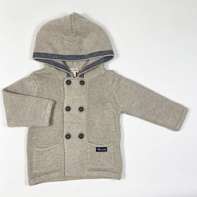 Brums hooded knit cardigan 6M