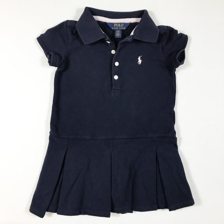 Ralph Lauren blue short-sleeved polo dress 2Y