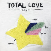 Zara white short-sleeved t-shirt with star application 3-6M/68