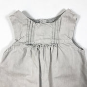 Zara greige sleeveless dress with frill detail 3-6M/68