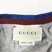 Gucci Kids grey jersey skirt with elastic glitter waistband 6-9M