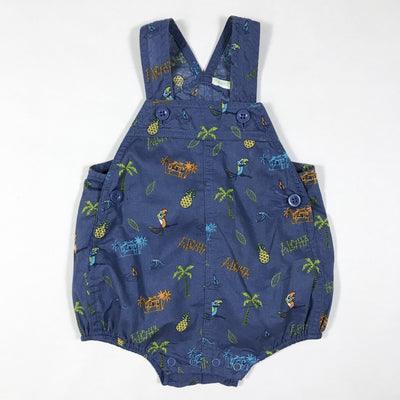United Colors of Benetton sleeveless blue exotic print romper 3-6M/62
