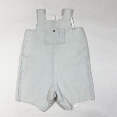 Bonpoint light blue/grey linen dungarees 12M