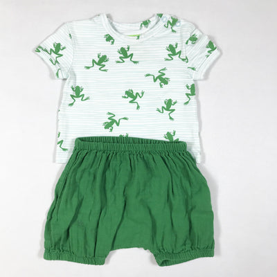 Lily Balou green frog print t-shirt & bloomers set 62