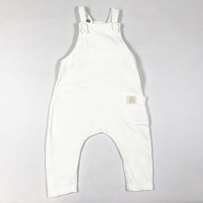 Zara white french terry dungarees 3-6M/68