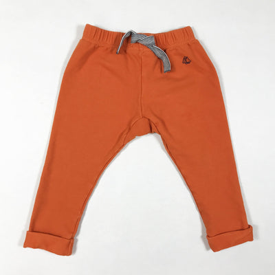 Petit Bateau orange sweatpants 18M/81