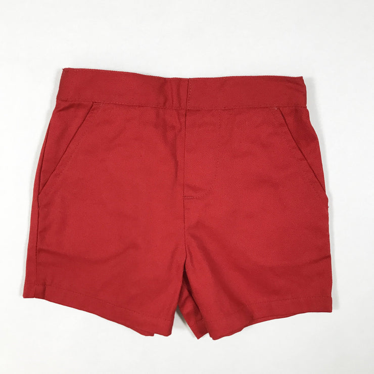 Starting Out red chino shorts 12M