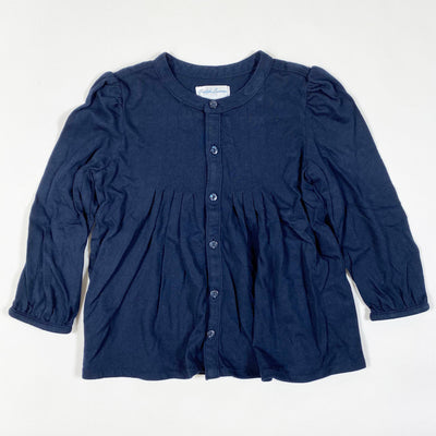 Ralph Lauren navy long-sleeved blouse 18M