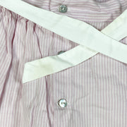 Laranjinha pink striped pinafore dress with bow 18M