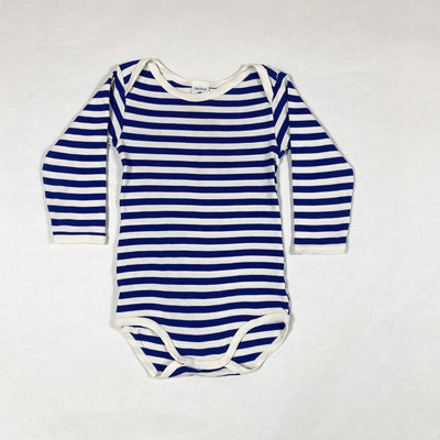 Petit Bateau blue striped long-sleeved onesie 12M/74