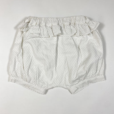 Patachou ecru polka dot bloomers with ruffles 12M/80