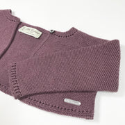 Pili Carrera soft purple long-sleeved bolero 18M/82-88