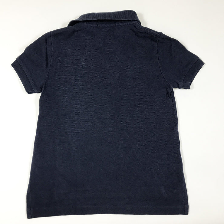 Ralph Lauren navy short-sleeved teddy polo shirt 3Y