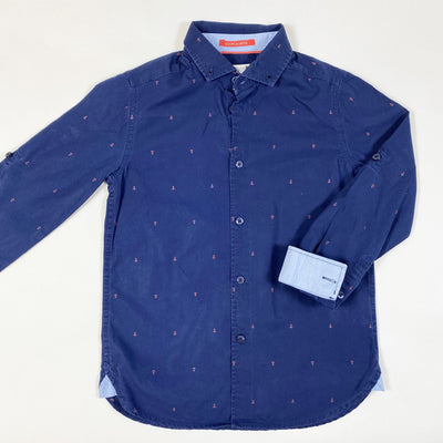 Cyrillus navy long-sleeved shirt with anchor embroidery 8Y/126