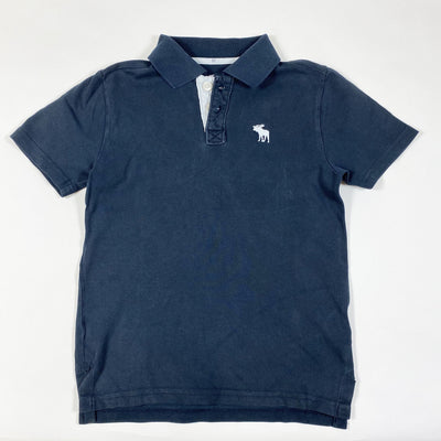 Abercrombie & Fitch navy blue short-sleeved polo shirt 7/8Y