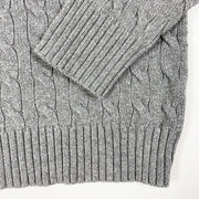 Ralph Lauren grey cable knit long-sleeved pullover 7Y