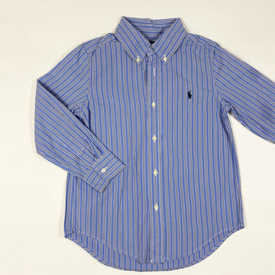 Ralph Lauren blue striped long-sleeved button down shirt 5Y
