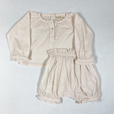 Omibia pale rose blouse and bloomer 6M/68