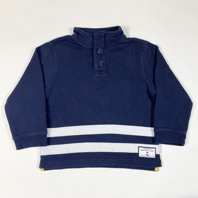 Janie and Jack blue long-sleeved rugby shirt 4Y