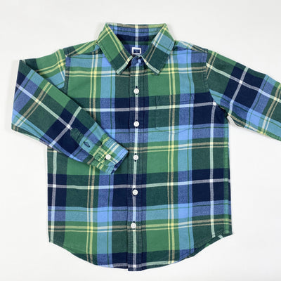 Janie and Jack green plaid flannel shirt 4Y