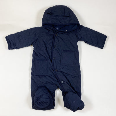 Gap navy quilted overall with hood 6-12M/75