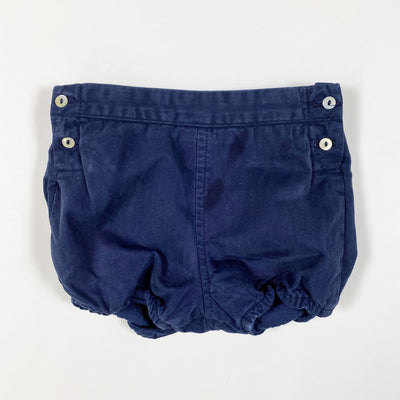 Laranjinha navy heavy cotton bloomers 12M