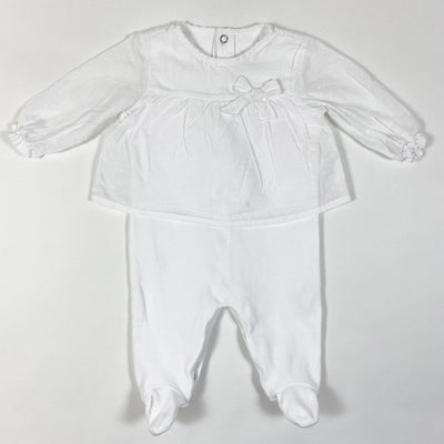 Pureté du Bebe white blouse and jumpsuit one-piece 3M