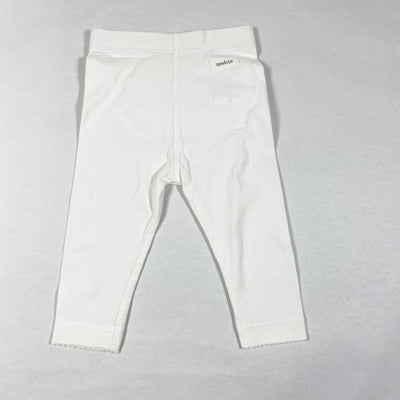 Newbie white leggings with frill detailing on back 6-9M/74