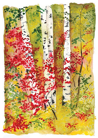Birches II Notecard PDF