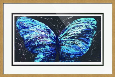 Butterfly Blue - Framed