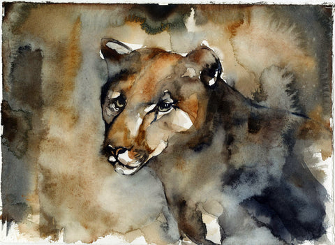 Cougar Lost: Wall, South Dakota - Original Painting