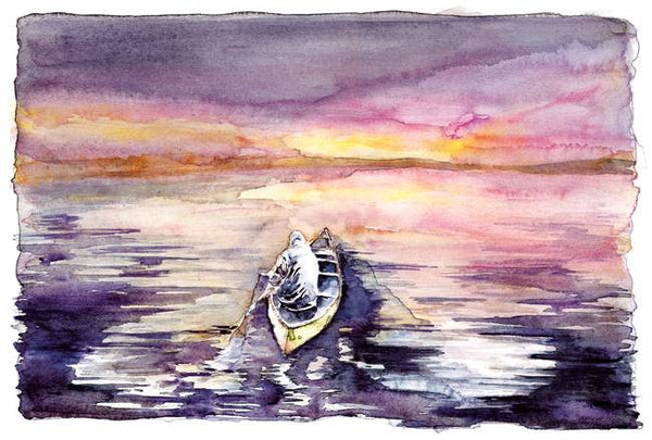 Monk Morning Paddle – Limited Edition Print