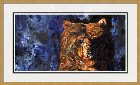 Night Bear - Framed