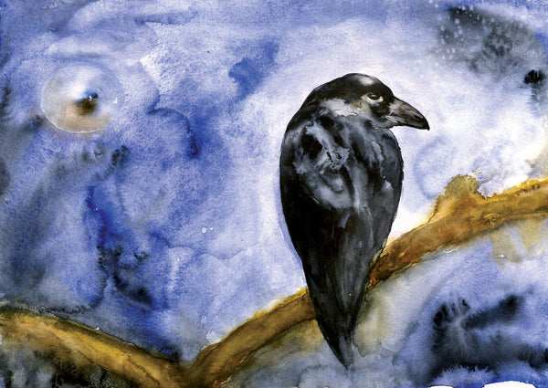 Raven Evening Notecard PDF