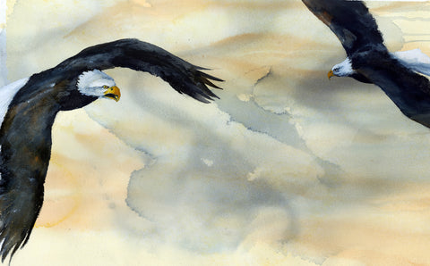 Two Eagles - Original Painting