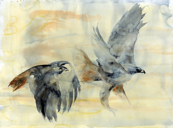 Two Redtails - Original Painting