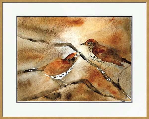 Wood Thrushes in Love - Limited Edition Print