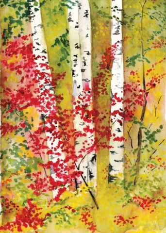 Birches II - E-card