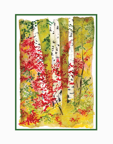 Birches II - Double Matted Print