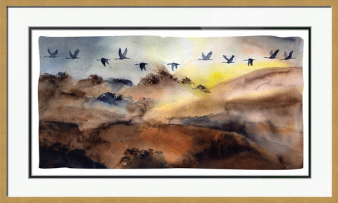 September Sandhill Sunrise - Framed