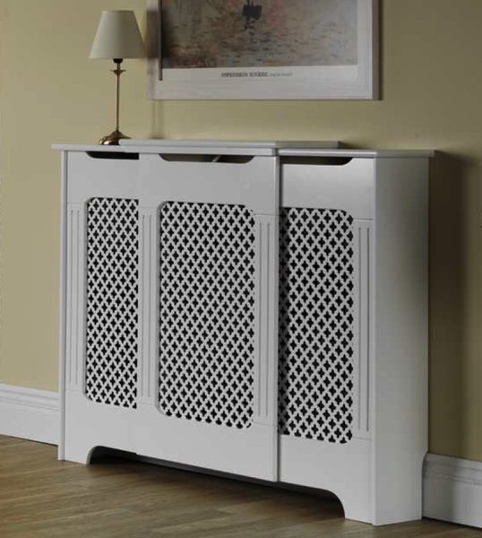 White Classic Adjustable Radiator Cabinet Cover Sml Med
