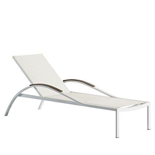 Brighthome 2-Pack All-weather Reclining Adjustable Outdoor Armed Chaise Lounge Aluminum and Textilene Sunbathing Chair, Stackable,BH-6021