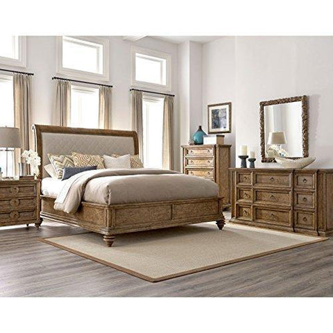 A.R.T. Furniture Pavilion Upholstered Sleigh Bed Eastern King