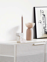 offset candleholder kristina dam from stone